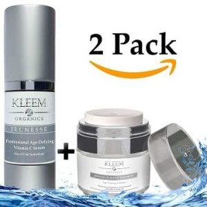 pack 2 kleem organics antiarrugas facial dia y noche